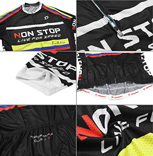 "Nonstop Live for speed ""Comfort"" Breathable Bicycle Cycling Short Sleeve Clothing Set. Jersey And Bib Short(size:2XL)"