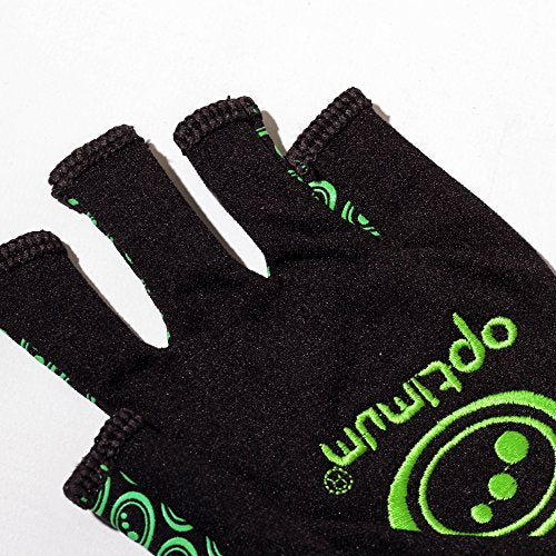 Optimum Unisex Senior Original Skit Mits Gloves, Black/Green, Small