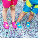 Image of Suiek Baby Boys Girls Swim Water Shoes Infant Pool Beach Sand Barefoot Aqua Socks (S (Sole Length 4.