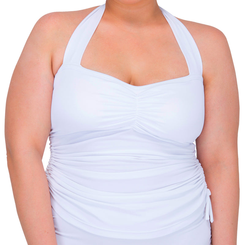 Women's Halter Tankini Top (White)