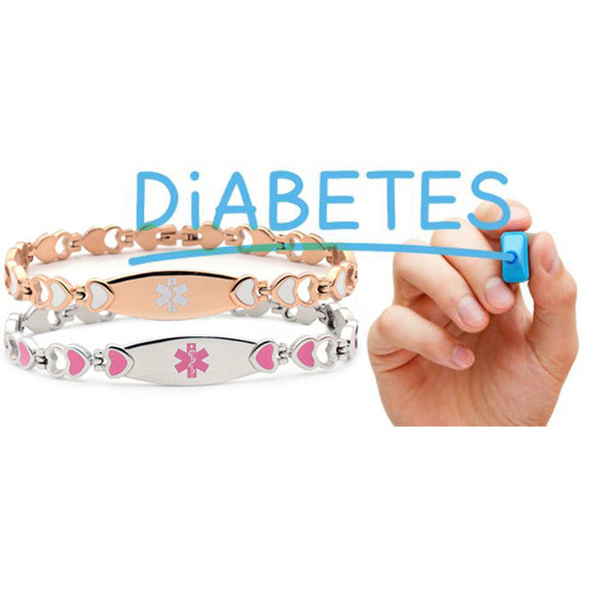 Recognize diabetes and use a medical id bracelet to double protection!