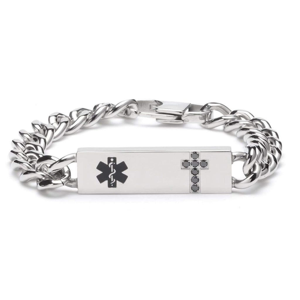 Tarring Christian Medical id bracelets for Men and Women with Free laser Engraving