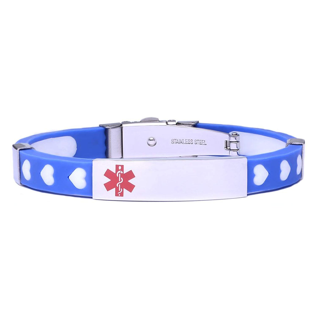 Silicone Sport Medical id bracelet for Boy and Girls
