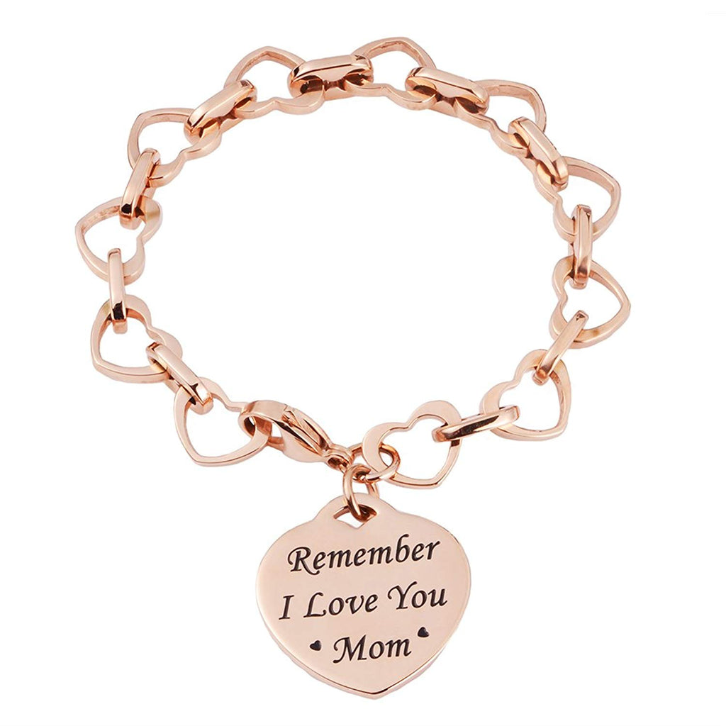 Heart to Heart Inspirational bracelet-Remember I Love You Mom