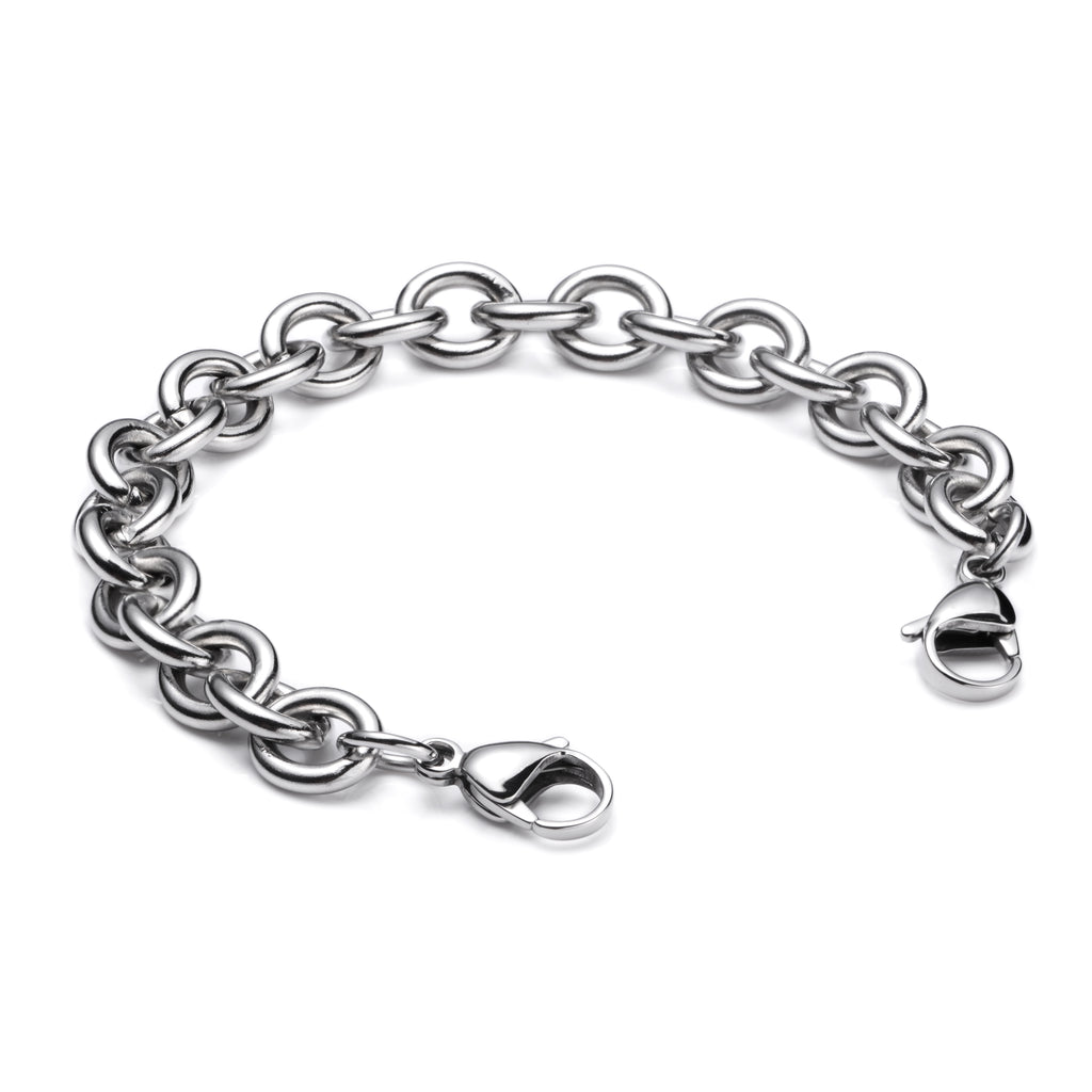 Stainless Steel Interchangeable Bracelet to Medical Alert for Women and Men-Cable