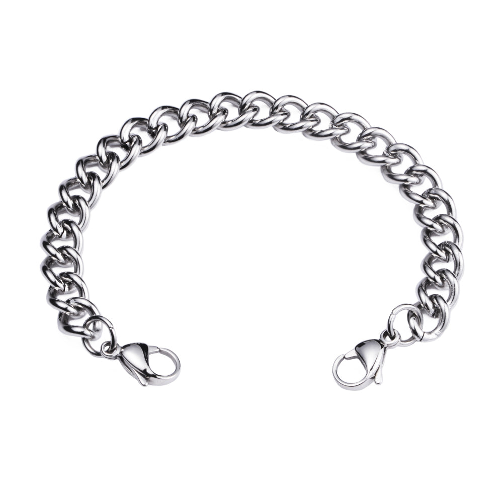 Stainless Steel Interchangeable Bracelet to Medical Alert for Women and Men-Cuban