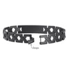 """X"" The Classic brushed Black medical id bracelet jewelry for men and women"