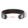 Black Medical Alert Cuff Bracelet-no bp/iv/needles this arm