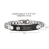 Stainless Steel Free Engrave Medical Bracelets for Men Women Alert ID Bracelets for Adults