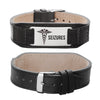 Seizures bracelet Comfortable Genuine Leather Epilepsy Medical bracelets for men and women