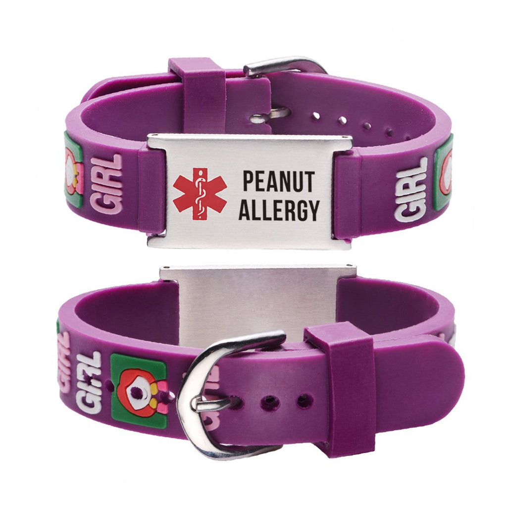 Peanut Allergy bracelets for kids-little girl