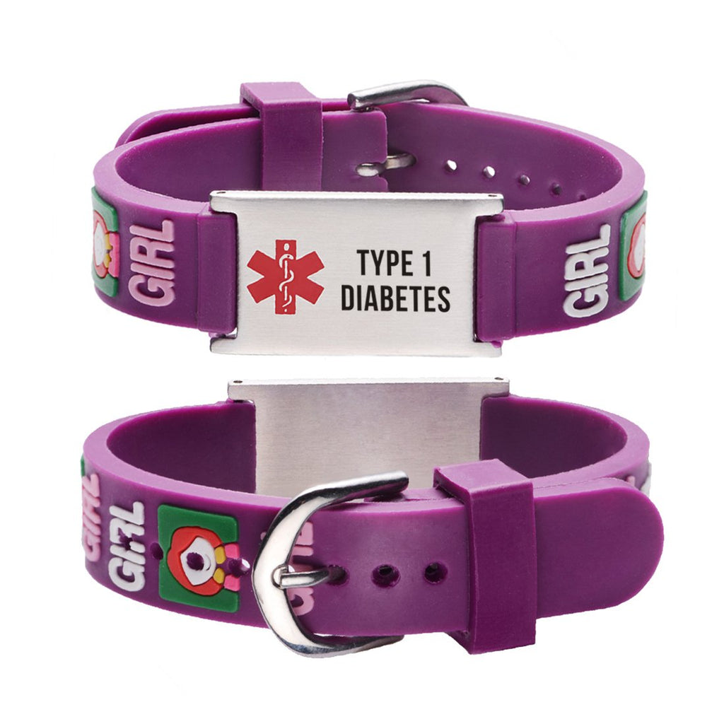 Type 1 Diabetes bracelets for kids-little girl