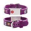 Custom engraving Medical Alert Bracelet for kids-little girl