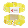 Allergic to Penicillin Alert Bracelet for kids-Goldfish