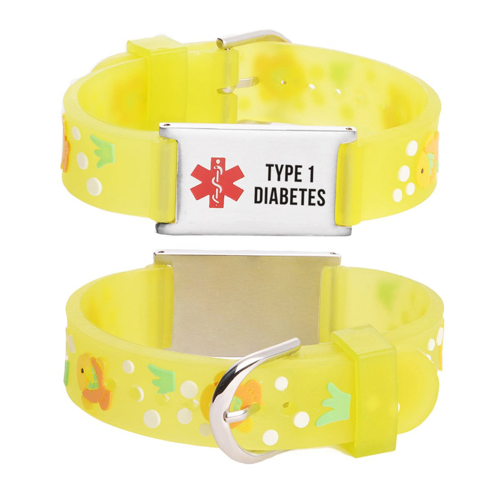 Type 1 Diabetes bracelets for kids-Goldfish
