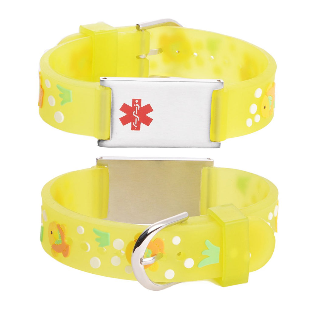 Custom engraving Medical Alert Bracelet for kids-Goldfish