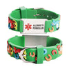 Allergic to Penicillin Alert Bracelet for kids-Carousel