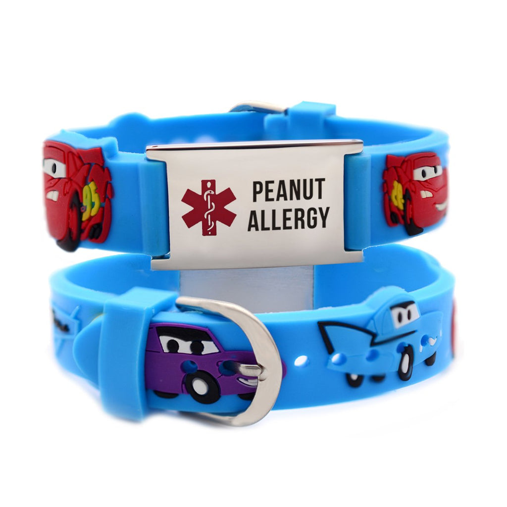 Peanut Allergy bracelets for Boys-Cars