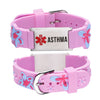 Asthma  Bracelet for Girls-Pink butterfly