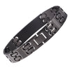 Solid titanium Medical alert id Bracelets for Men with Free Engraving