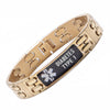 Warriors Gold Carbon Fiber Medical Alert id Bracelet-TYPE 1 DIABETES