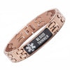 Warriors Rose gold Carbon Fiber Medical Alert id Bracelet-BLOOD THINNER