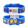 Diabetes bracelets for kids-Small train