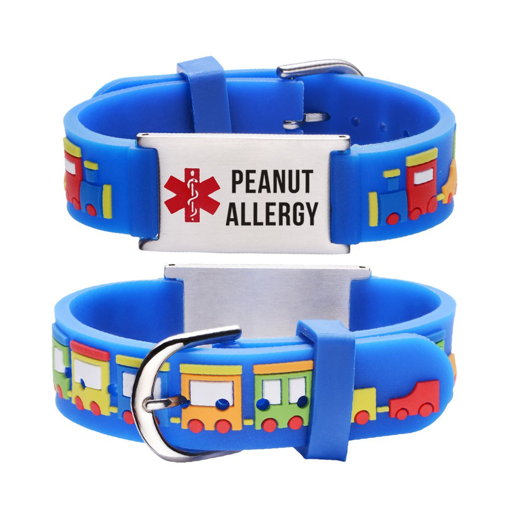 Peanut Allergy bracelets for kids-Small train