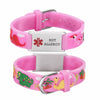 Nut allergy  bracelets for kids-Pink dinosa