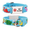 Nut allergy  bracelets for kids-Blue dinosa
