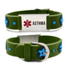 ASTHMA bracelets for kids-Green american star