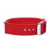 ASTHMA Bracelets for Boys & Girls-Red Canvas band