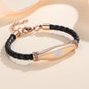 Beautiful Female Leather Medical ID Bracelets for Type 1 Diabetes