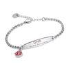 SIMPLE ROLO CHAIN MEDICAL ID BRACELET FOR WOMEN & GIRL