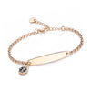 SIMPLE ROLO CHAIN MEDICAL ID BRACELET FOR WOMEN-customize engraving