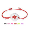 Adjustable Cord lymphedema alert Bracelets for Women & Girls