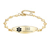 Fashion Heart Chain Medical Alert id Bracelet for Women & Girl