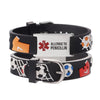 linnalove-Allergic to Penicillin bracelet Cartoon Football Medical id bracelets for boys and girls