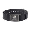 Type 2 Diabetes Bracelets for Boys & Girls-Black Canvas band