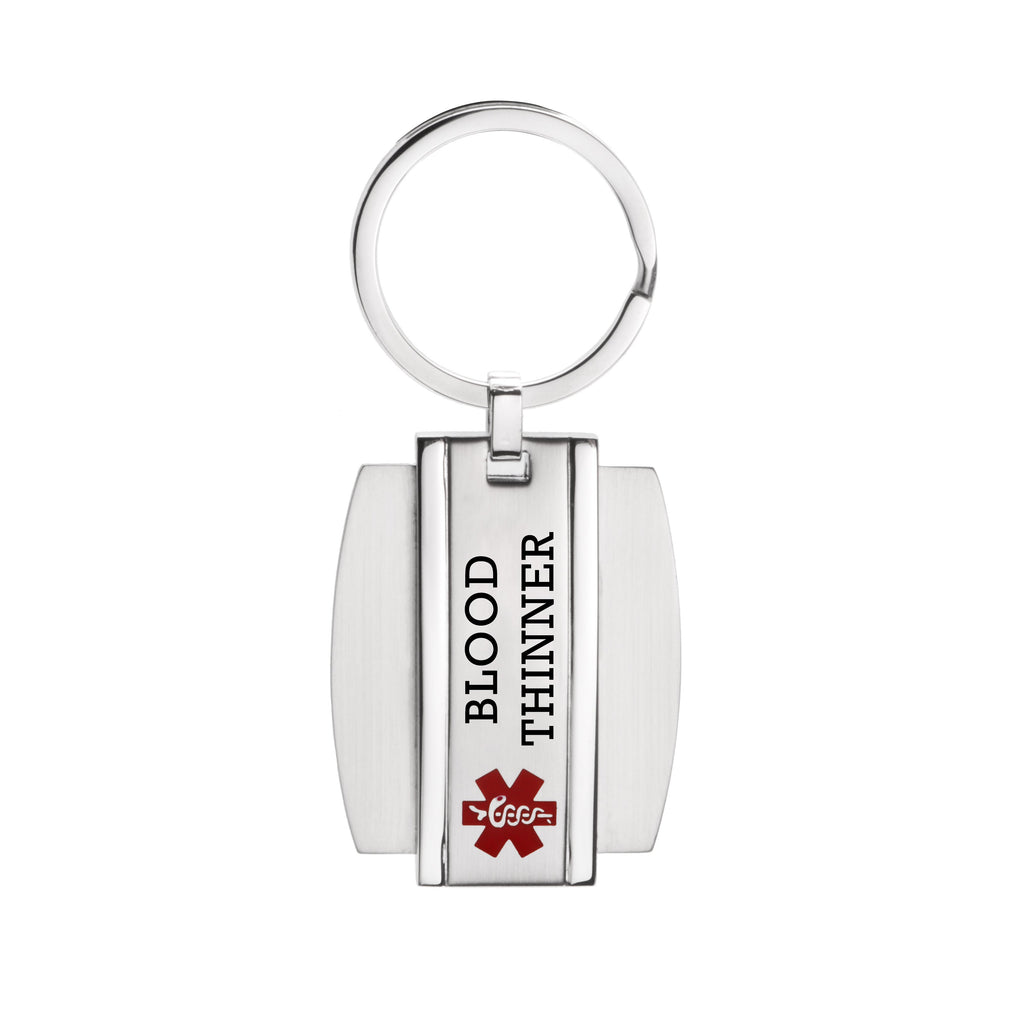 Medical alert id Key chain for men and women -BLOOD THINNER(916)