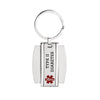 Medical alert id Keychain for men and women -TYPE 2 DIABETES (916)