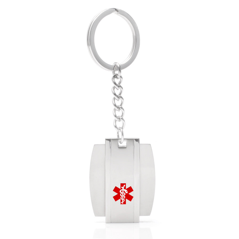 Warrior shield Medical id Keyrings
