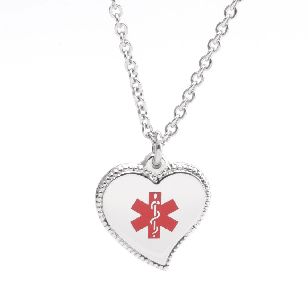 Sophie Heart Medical ID Charm
