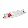"Pre engraving ""TYPE 1 DIABETES"" Medical alert tags-Model C"