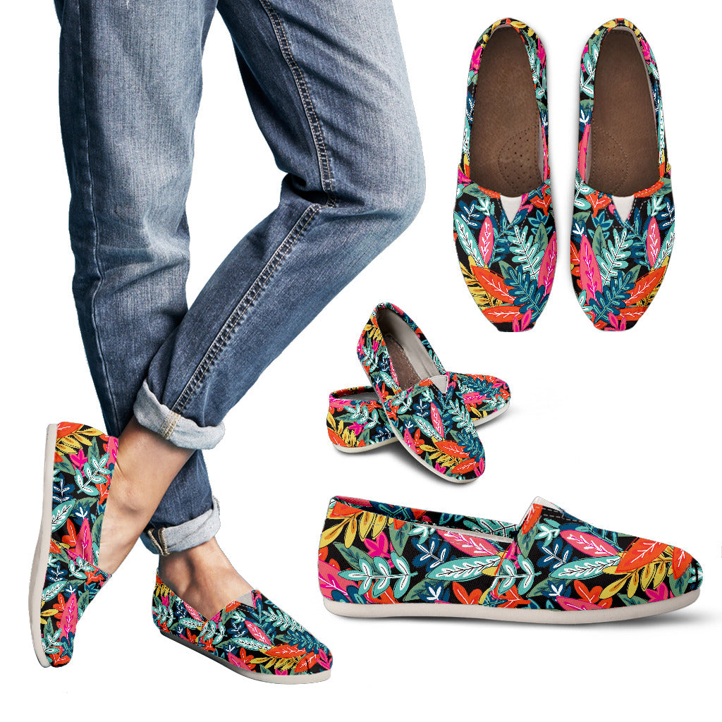 Colorful Autumn Foliage Women's Casual Shoes