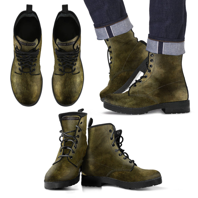 Stained Distressed Look Men's Leather Boots