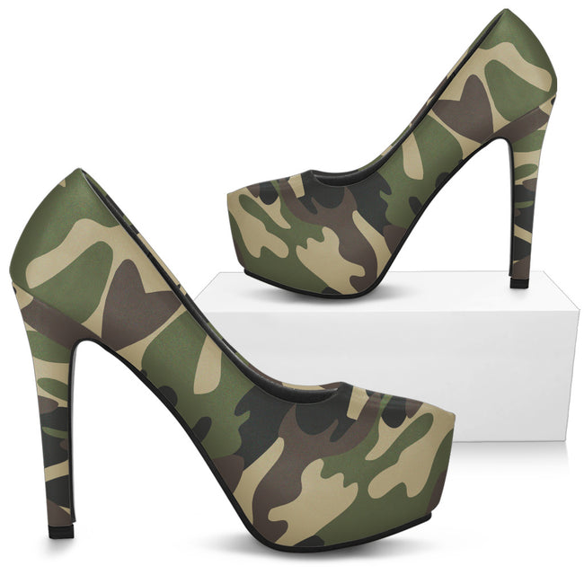 Stylish Women's Camouflage Heels