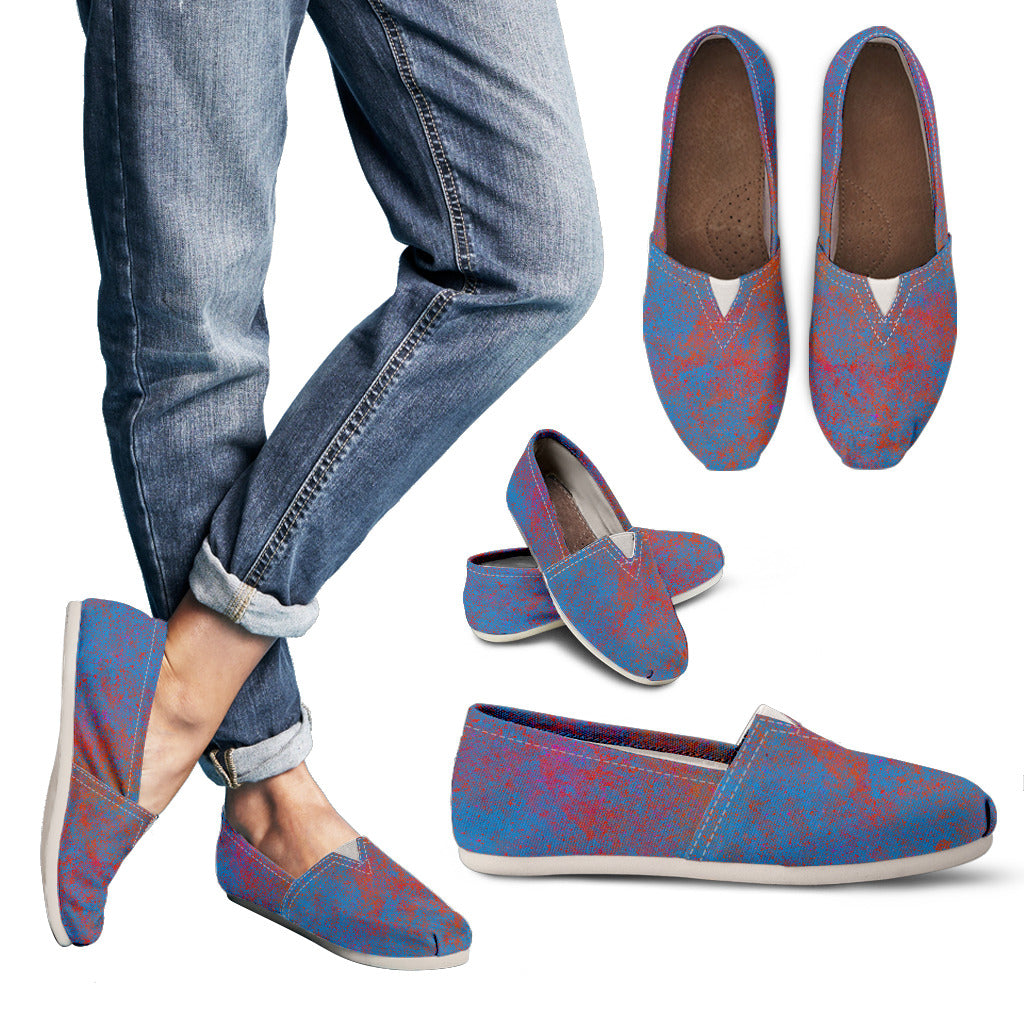 Soothing Chalk Pastel Texture Women's Slip On