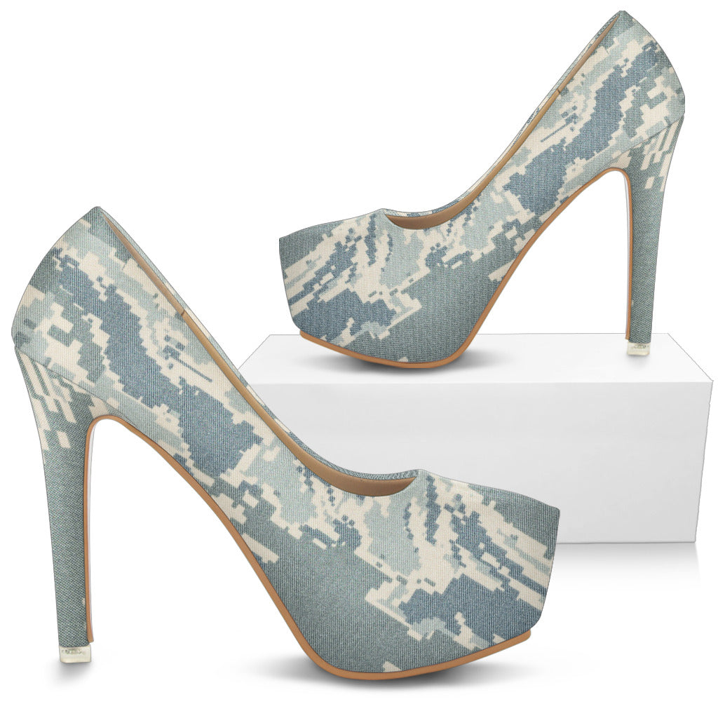 Digital Tiger Stripe Camo Heels