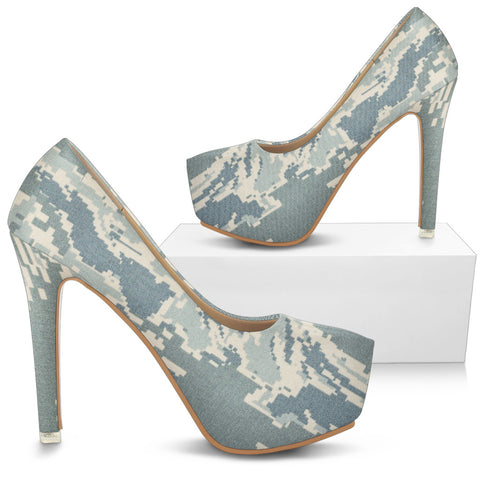 Army Wife Camouflage High Heels